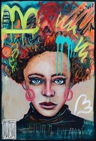 Obraz do salonu artysty Wojciech Brewka pod tytułem Queen of Revolution z cyklu Generation X