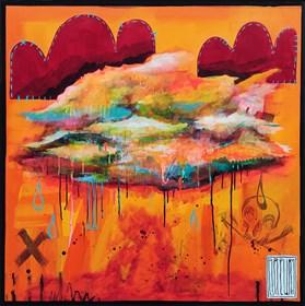 Obraz do salonu artysty Wojciech Brewka pod tytułem Clouds z cyklu Generation X
