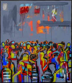 Obraz do salonu artysty Wojciech Brewka pod tytułem Opium dla mas