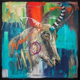 Obraz do salonu artysty Wojciech Brewka pod tytułem Rupicapra rupicapra tatrica