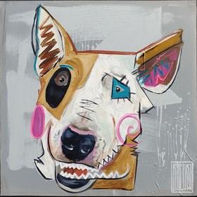Obraz do salonu artysty Wojciech Brewka pod tytułem Jak pies z kotem 1