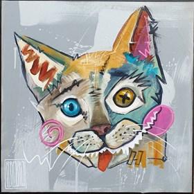 Obraz do salonu artysty Wojciech Brewka pod tytułem Jak pies z kotem 2