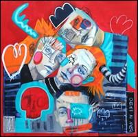 Obraz do salonu artysty Wojciech Brewka pod tytułem Born in 1980