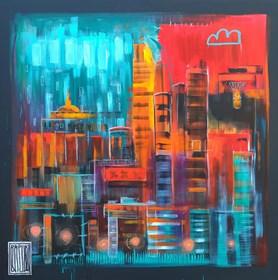Obraz do salonu artysty Wojciech Brewka pod tytułem City lights