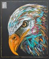 Living room painting by Wojciech Brewka titled Eagle