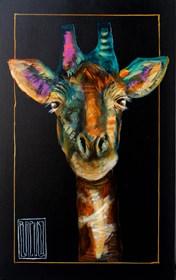 Obraz do salonu artysty Wojciech Brewka pod tytułem Żyrafy wchodzą do szafy