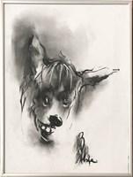 Obraz do salonu artysty Bożena Wahl pod tytułem Psi portret 5