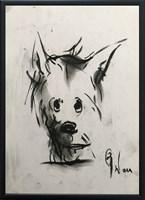 Obraz do salonu artysty Bożena Wahl pod tytułem Portret pieska 3