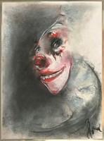 Obraz do salonu artysty Bożena Wahl pod tytułem Klaun portret