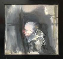 Obraz do salonu artysty Bożena Wahl pod tytułem Klaun 2
