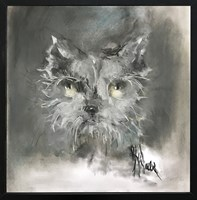 Obraz do salonu artysty Bożena Wahl pod tytułem Kot