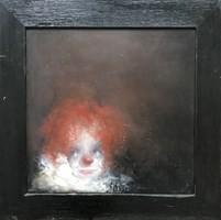 Obraz do salonu artysty Bożena Wahl pod tytułem Klaun rudy
