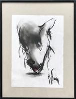 Obraz do salonu artysty Bożena Wahl pod tytułem Piesek - portret