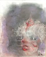 Obraz do salonu artysty Bożena Wahl pod tytułem Twarz - klaun