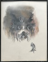 Obraz do salonu artysty Bożena Wahl pod tytułem Pies - portret 1