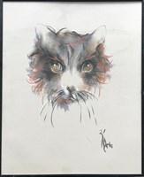 Obraz do salonu artysty Bożena Wahl pod tytułem Pies - portret 2