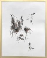 Obraz do salonu artysty Bożena Wahl pod tytułem Pies - portret 6