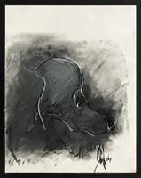 Obraz do salonu artysty Bożena Wahl pod tytułem Portret czarnego pieska