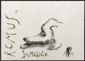 Obraz do salonu artysty Bożena Wahl pod tytułem Romuś samotnik