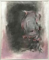 Obraz do salonu artysty Bożena Wahl pod tytułem Klaun na różowym tle 1