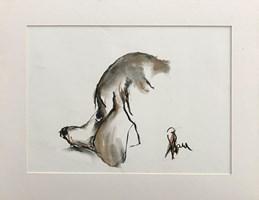 Obraz do salonu artysty Bożena Wahl pod tytułem Portet psiaka