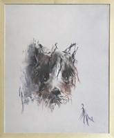Obraz do salonu artysty Bożena Wahl pod tytułem Portret psa bez tytułu II