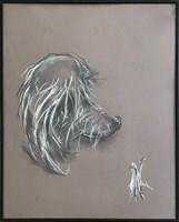 Obraz do salonu artysty Bożena Wahl pod tytułem Portret psa bez tytułu III