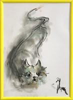 Obraz do salonu artysty Bożena Wahl pod tytułem Kotek - Bez tytułu 1