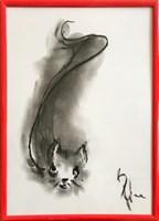 Obraz do salonu artysty Bożena Wahl pod tytułem Kotek - Bez tytułu 2