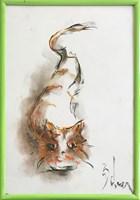 Obraz do salonu artysty Bożena Wahl pod tytułem Kotek - Bez tytułu 3