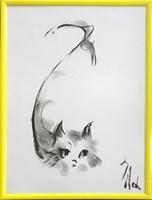 Obraz do salonu artysty Bożena Wahl pod tytułem Kotek - Bez tytułu 7