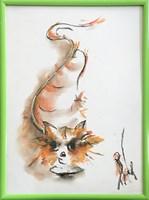 Obraz do salonu artysty Bożena Wahl pod tytułem Kotek - Bez tytułu 8