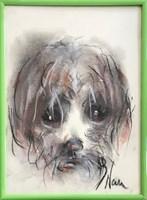 Obraz do salonu artysty Bożena Wahl pod tytułem Portret psa, bez tytułu 2