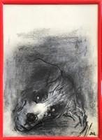 Obraz do salonu artysty Bożena Wahl pod tytułem Portret psa, bez tytułu 3