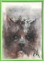 Obraz do salonu artysty Bożena Wahl pod tytułem Portret psa, bez tytułu 4