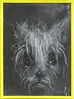 Obraz do salonu artysty Bożena Wahl pod tytułem Portret psa, bez tytułu 5