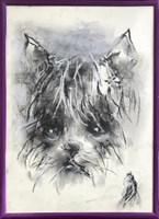 Obraz do salonu artysty Bożena Wahl pod tytułem Portret psa, bez tytułu 6