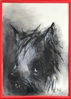 Obraz do salonu artysty Bożena Wahl pod tytułem Portret psa, bez tytułu 7