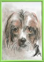 Obraz do salonu artysty Bożena Wahl pod tytułem Portret psa, bez tytułu 8