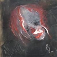 Obraz do salonu artysty Bożena Wahl pod tytułem Klaun - portret I