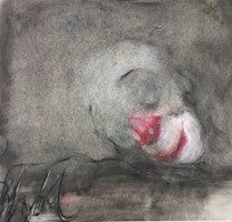 Obraz do salonu artysty Bożena Wahl pod tytułem Śpiący klaun I