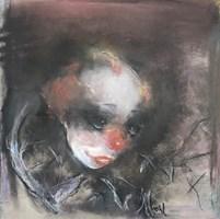 Obraz do salonu artysty Bożena Wahl pod tytułem Klaun - portret
