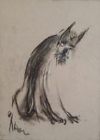 """Obraz do salonu artysty Bożena Wahl pod tytułem Bez tytułu 21 - z cyklu """"Zwierzęta"""""""