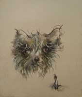 """Living room painting by Bożena Wahl titled From the part """"Animal"""" - untitled 26"""