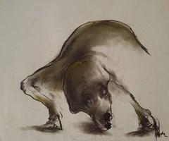 """Obraz do salonu artysty Bożena Wahl pod tytułem Bez tytułu 27 - z cyklu """"Zwierzęta"""""""