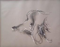 """Obraz do salonu artysty Bożena Wahl pod tytułem Bez tytułu 30 - cyklu """"Zwierzęta"""""""