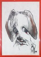 Obraz do salonu artysty Bożena Wahl pod tytułem Portret psa - z cyklu portrety zwierząt 032