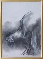Obraz do salonu artysty Bożena Wahl pod tytułem Portret psa - z cyklu portrety zwierząt 033