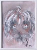 Obraz do salonu artysty Bożena Wahl pod tytułem Portret psa - z cyklu portrety zwierząt 034
