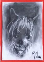 Obraz do salonu artysty Bożena Wahl pod tytułem Portret psa - z cyklu portrety zwierząt 035